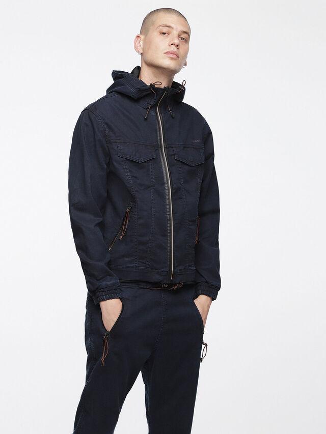 Diesel - MONSHI JOGGJEANS, Dark Blue - Denim Jackets - Image 1
