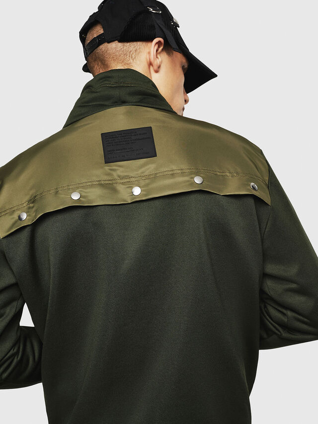 Diesel - S-TENKO, Dark Green - Sweatshirts - Image 5