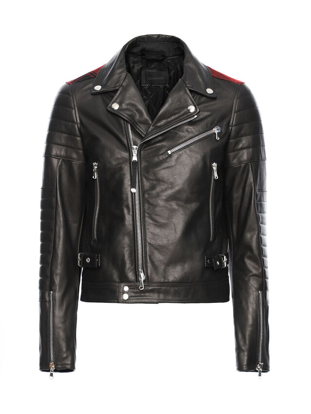 Diesel - LOCHECK, Black - Leather jackets - Image 5