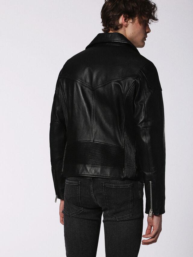 Diesel - L-KRAMPS, Black - Leather jackets - Image 2
