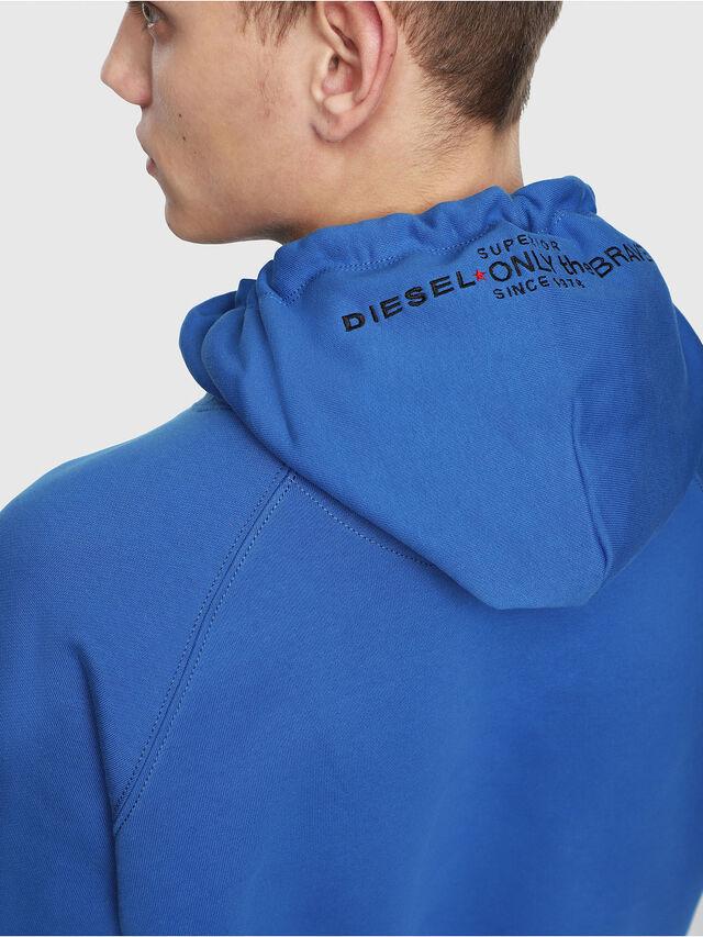 Diesel - S-GIM-HOOD-A, Brilliant Blue - Sweatshirts - Image 3