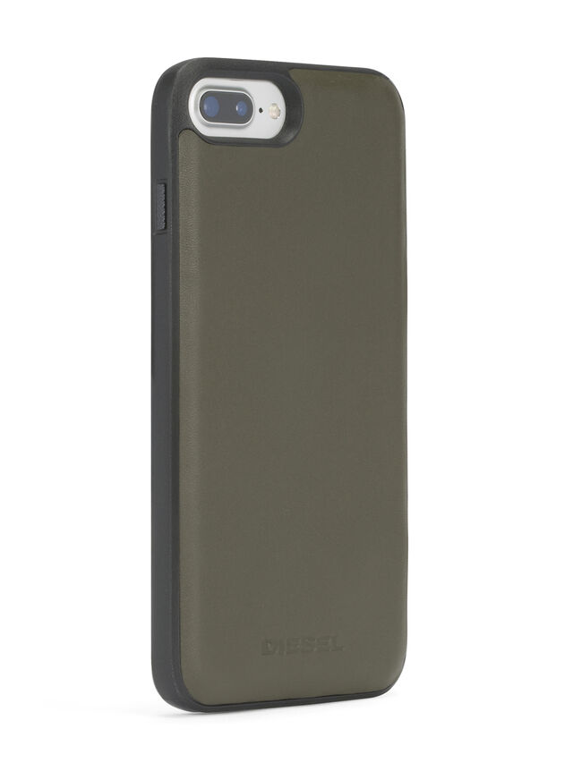 Diesel - OLIVE GREEN LEATHER IPHONE 8 PLUS/7 PLUS/6s PLUS/6 PLUS CASE, Olive Green - Cases - Image 5