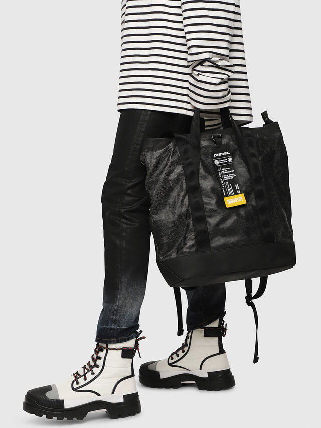 Diesel - VOLPAGO TOTE, Black - Shopping and Shoulder Bags - Image 6