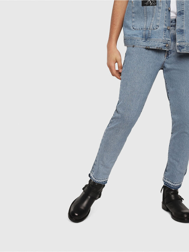 Diesel - Mharky 0077Z, Medium Blue - Jeans - Image 5