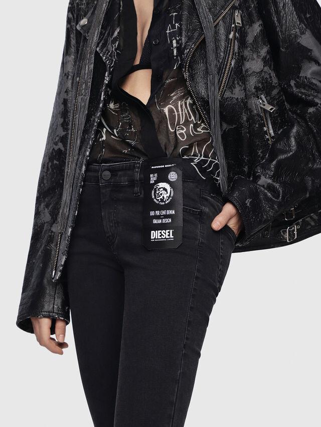 Diesel - Slandy Zip 0680I, Black/Dark Grey - Jeans - Image 3