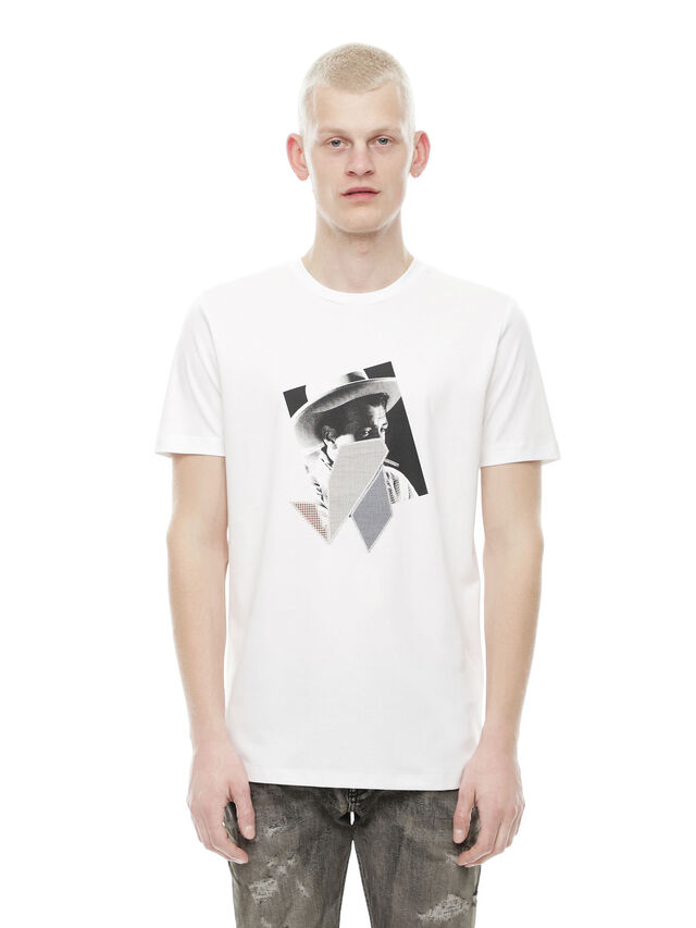 Diesel - TY-PEZZABOY1, White - T-Shirts - Image 1