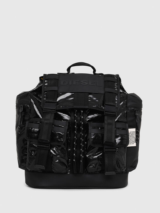 Diesel - M-CAGE BACK, Black - Backpacks - Image 1