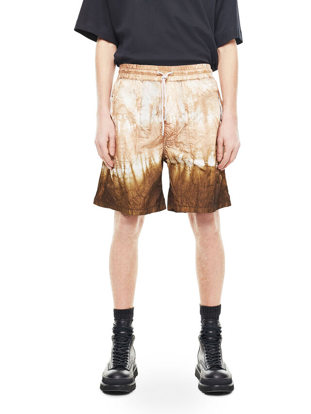 Diesel - PAIDAY, Brown/White - Shorts - Image 1