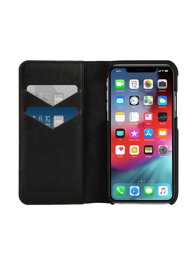 Diesel - DIESEL 2-IN-1 FOLIO CASE FOR IPHONE XS MAX, Black - Flip covers - Image 7