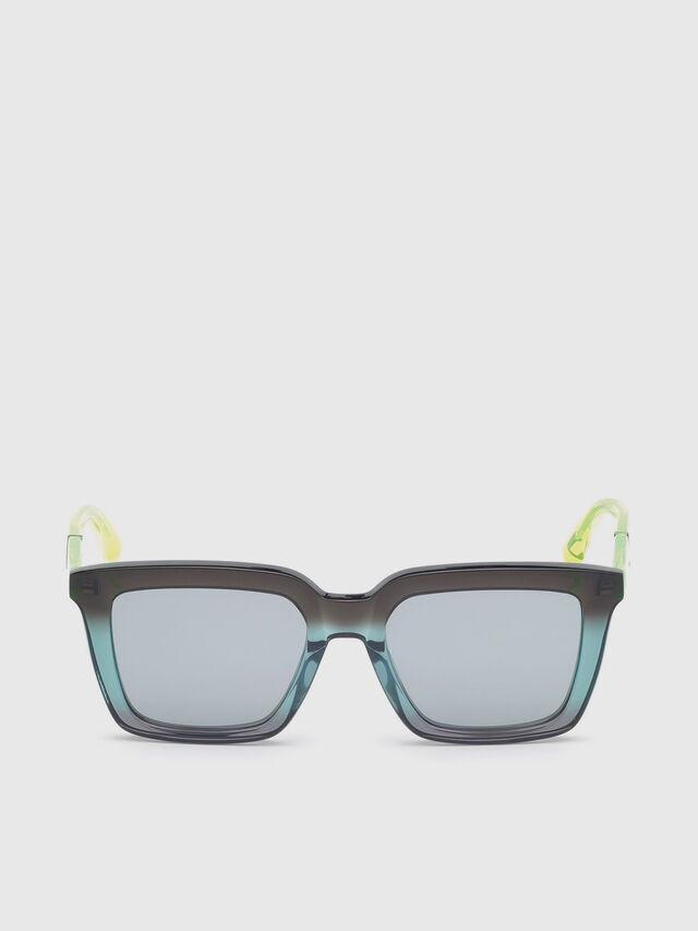Diesel - DL0284, Blue/Yellow - Sunglasses - Image 1