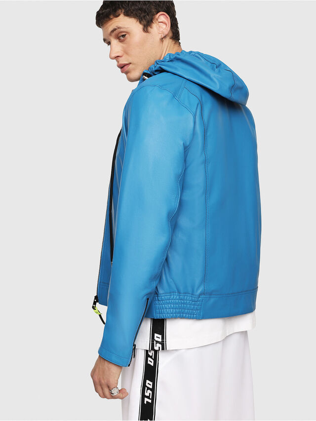 Diesel - L-RESTIL, Blue Marine - Leather jackets - Image 2