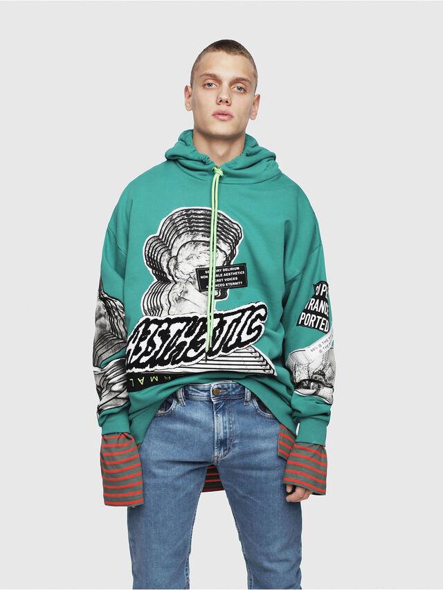 Diesel - S-JACK-YA, Water Green - Sweatshirts - Image 1