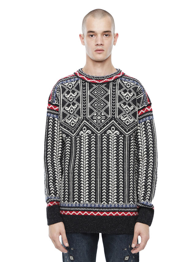 Diesel - KETLAND, Black/White - Sweaters - Image 1