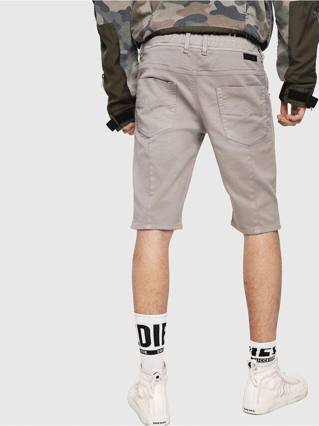 Diesel - D-KROOSHORT JOGGJEANS, Grey - Shorts - Image 2
