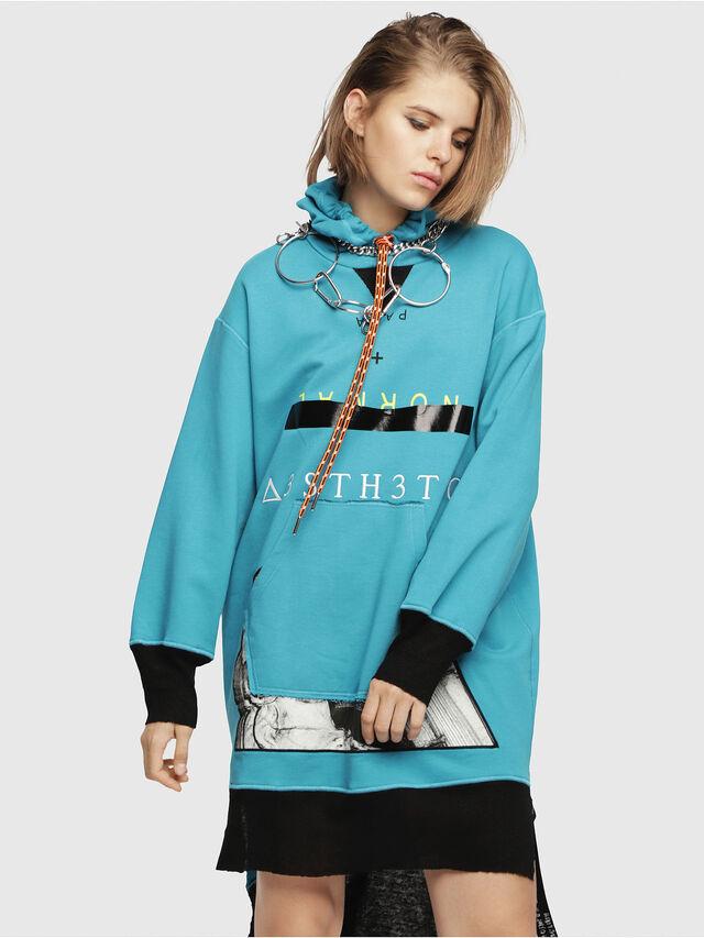 Diesel - D-ILSE-B, Turquoise - Dresses - Image 1