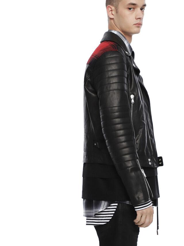Diesel - LOCHECK, Black - Leather jackets - Image 3