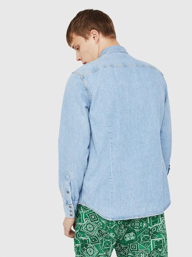 Diesel - D-LEO, Blue Jeans - Denim Shirts - Image 2