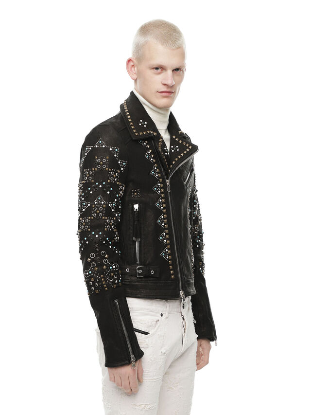Diesel - LANDITO, Black - Leather jackets - Image 3