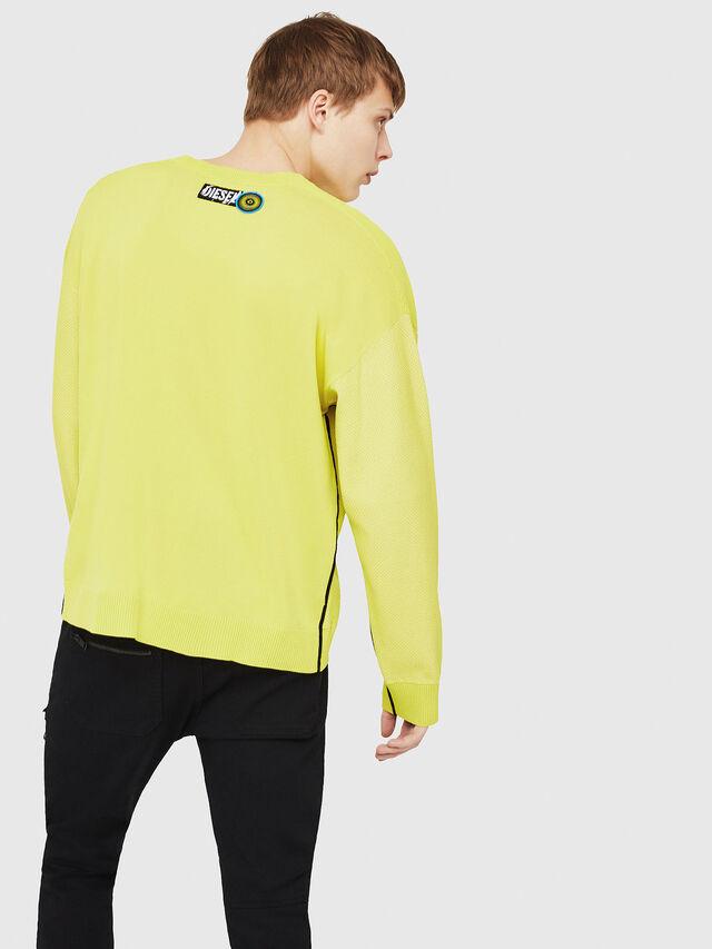 Diesel - K-TREY, Yellow Fluo - Sweaters - Image 2