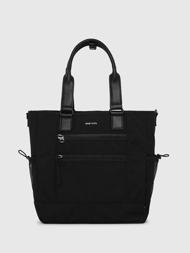Diesel - F-URBHANITY TOTE, Black - Shopping and Shoulder Bags - Image 1