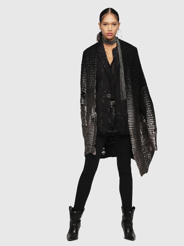 Diesel - M-MIKO, Black/Silver - Sweaters - Image 4