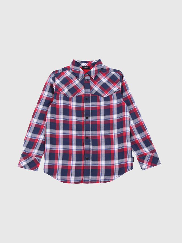 Diesel - CLANET, Blue/Red - Shirts - Image 1