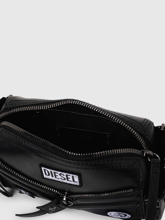 Diesel - LE-ZIPPER CROSSBODY, Black - Crossbody Bags - Image 4