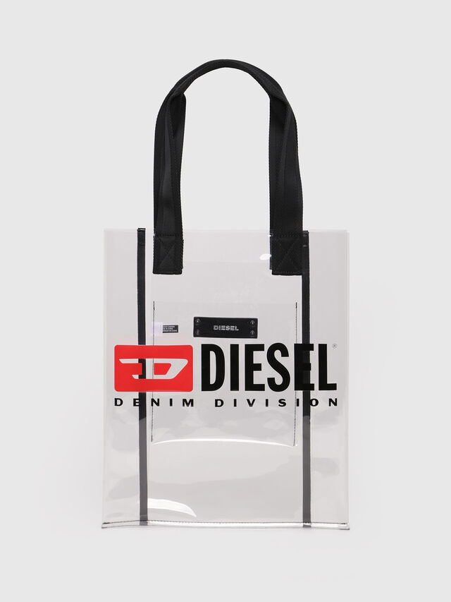 Diesel - F-GHOST SHOPPER, White - Shopping and Shoulder Bags - Image 1