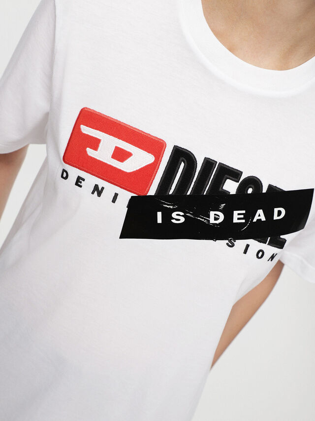Diesel - HC-T-JUST-DIVISION-A, White - T-Shirts - Image 7