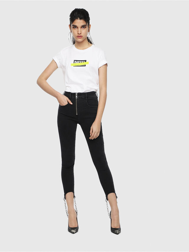 Diesel - T-SILY-WL, White - T-Shirts - Image 4