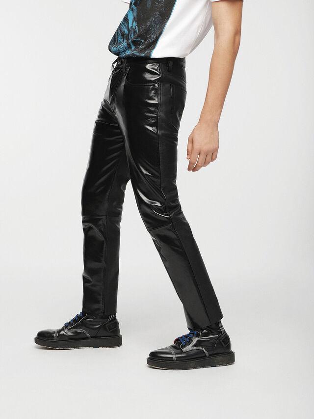 Diesel - P-MHARKY, Black Leather - Pants - Image 3