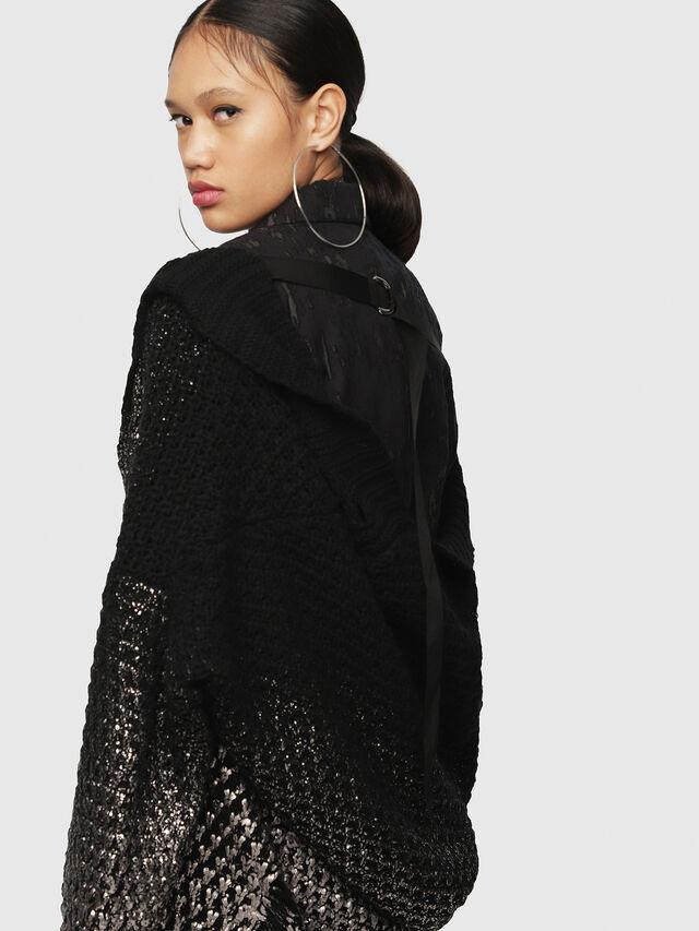 Diesel - M-MIKO, Black/Silver - Sweaters - Image 3