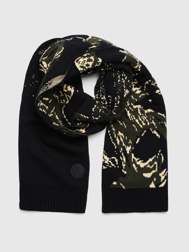 Diesel - K-COR, Green/Black - Scarves - Image 1