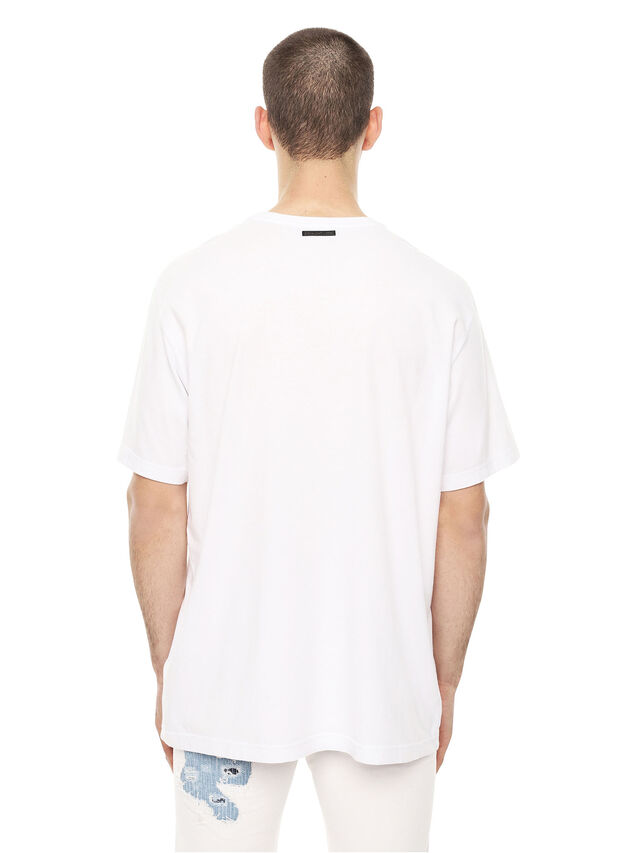 Diesel - TCUT, White/Blue - T-Shirts - Image 2