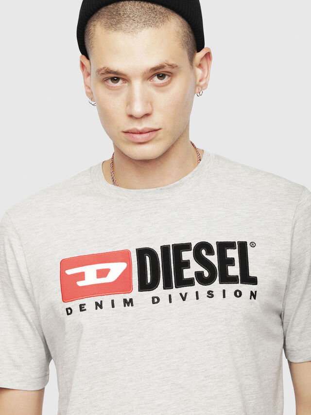 Diesel - T-JUST-DIVISION, Grey - T-Shirts - Image 3