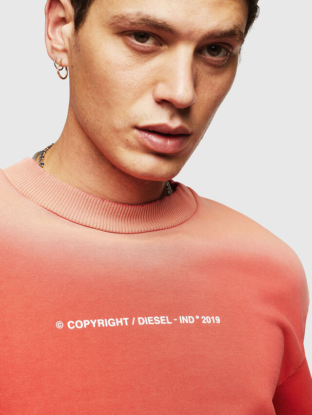 Diesel - S-BAY-SUN, Orange - Sweatshirts - Image 3