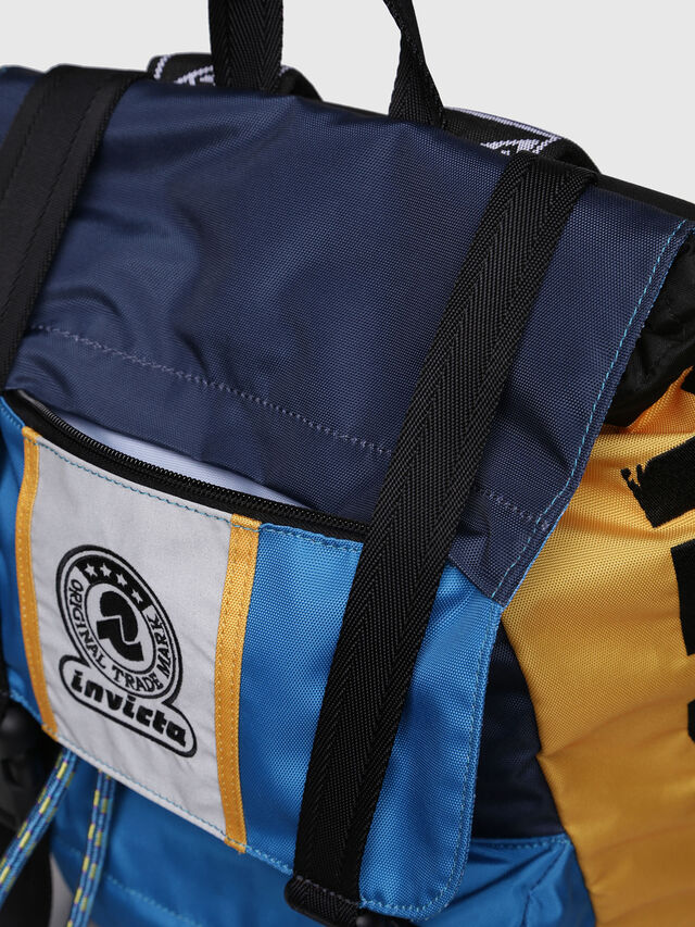 Diesel - M-INVICOLAB BACK I, Blue/Yellow - Backpacks - Image 5