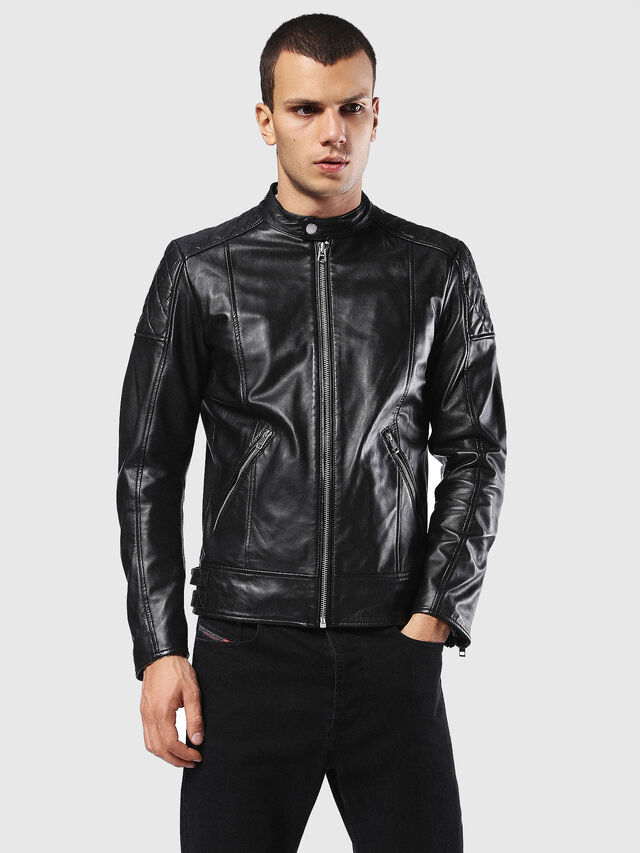 Diesel - L-MARTON, Black - Leather jackets - Image 1