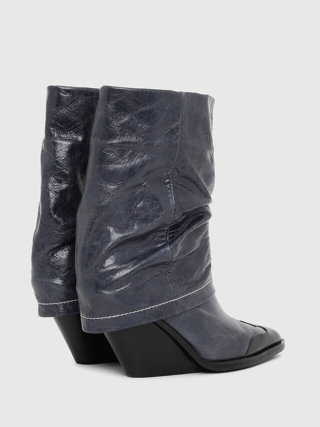 Diesel - D-WEST MB, Blue - Ankle Boots - Image 3