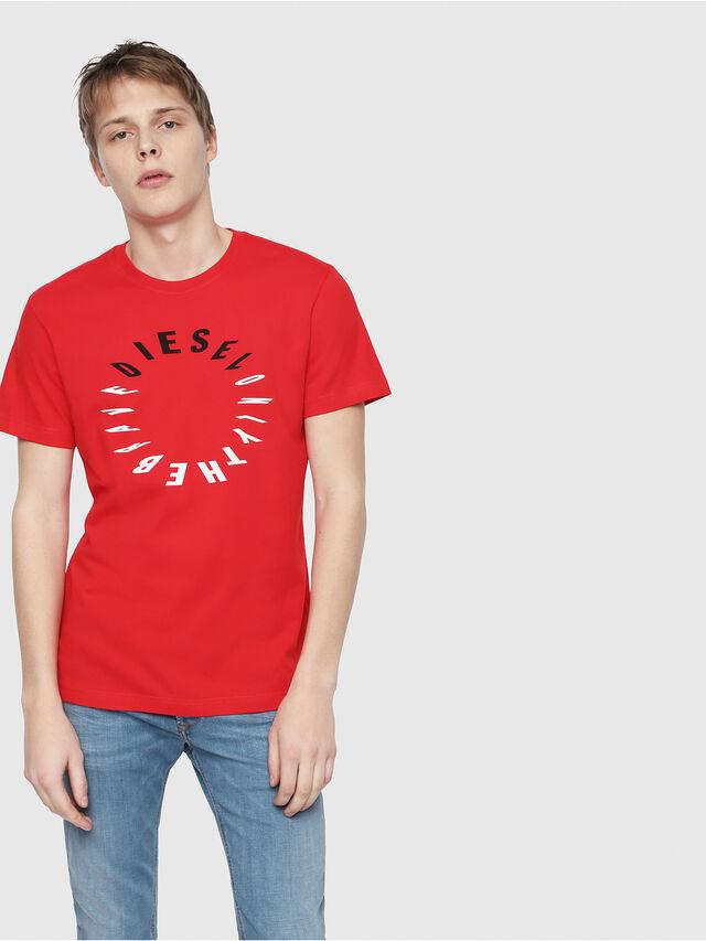 Diesel - T-DIEGO-Y2, Red - T-Shirts - Image 1
