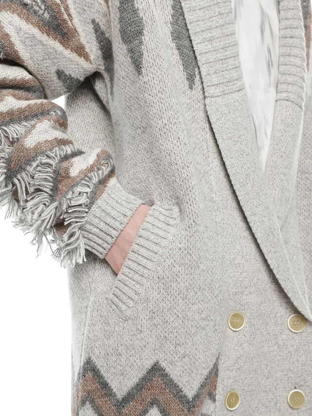 Diesel - MYLOR-LONG, Light Grey - Sweaters - Image 3