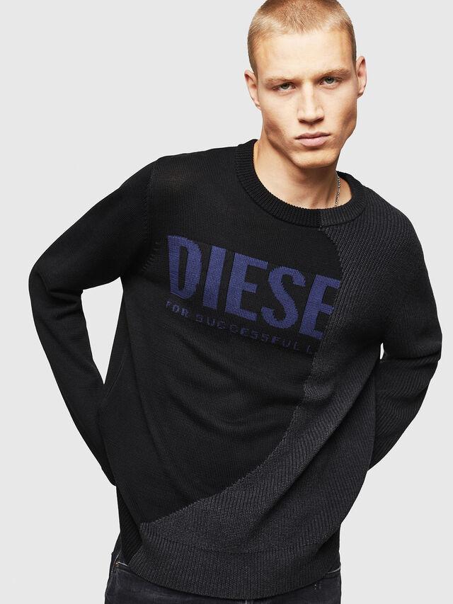 Diesel - K-HALF, Black - Sweaters - Image 1