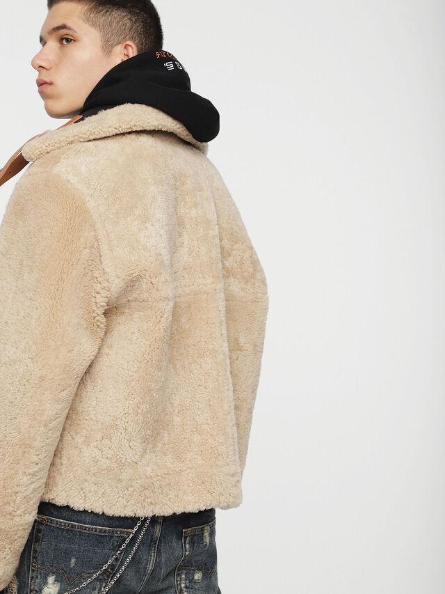 Diesel - L-FOLSON, Black/Brown - Leather jackets - Image 4