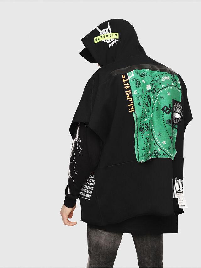 Diesel - S-MAKI-ZIP, Black/Green - Sweatshirts - Image 2