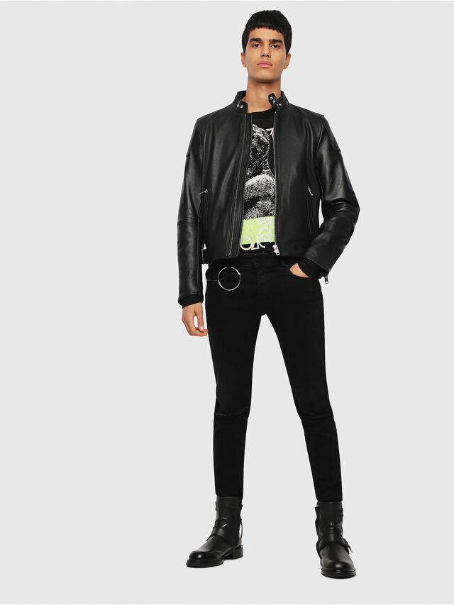 Diesel - L-RUSHIS, Black Leather - Leather jackets - Image 5