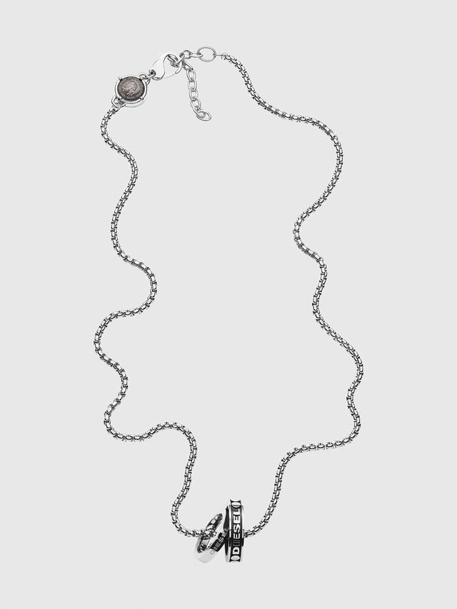 Diesel - DX1168, Silver - Necklaces - Image 1