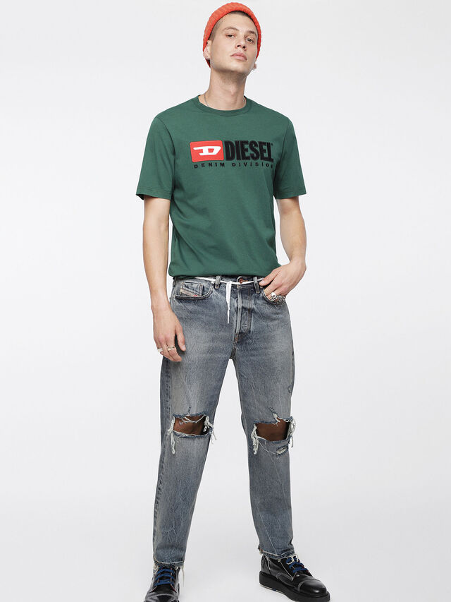 Diesel - T-JUST-DIVISION, Bottle Green - T-Shirts - Image 4