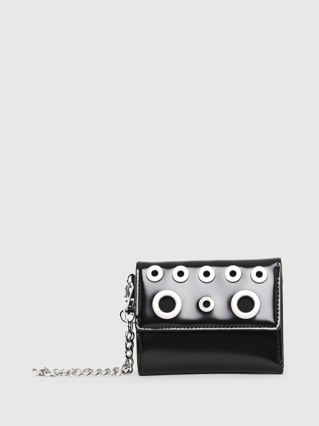 Diesel - YAMY II, Black/White - Small Wallets - Image 1