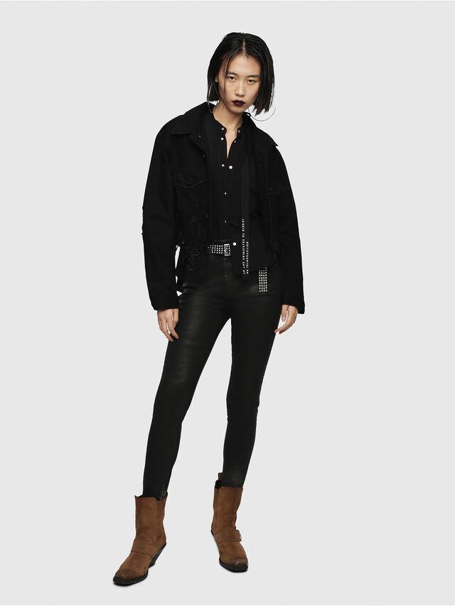 Diesel - DE-POPPY, Black Jeans - Denim Jackets - Image 5