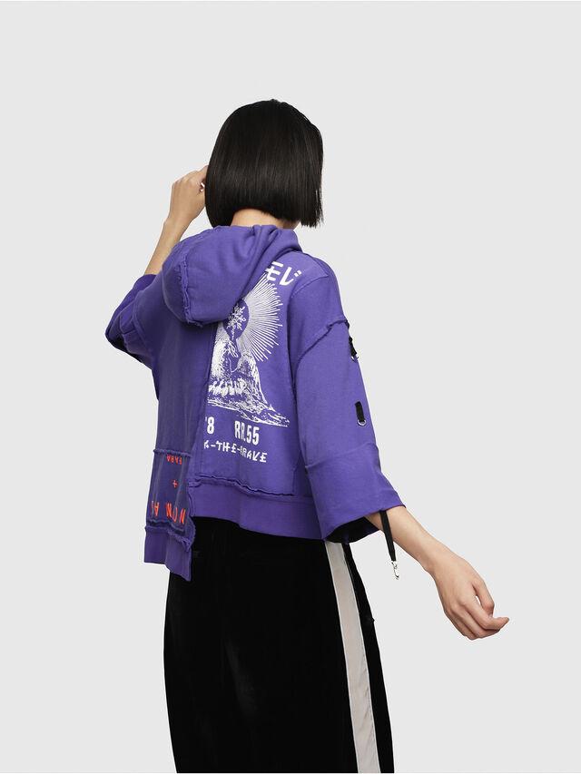 Diesel - F-MIKI, Violet - Sweatshirts - Image 2